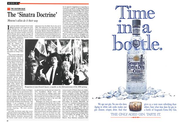 Article Preview: The 'Sinatra Doctrine', November 1989 | Maclean's