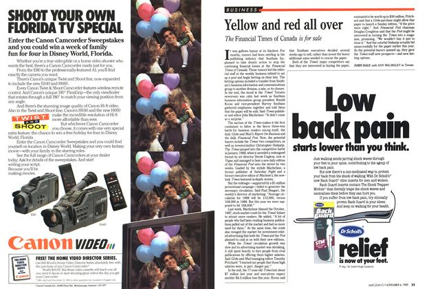 Article Preview: Yellow and red all over, November 1989 | Maclean's