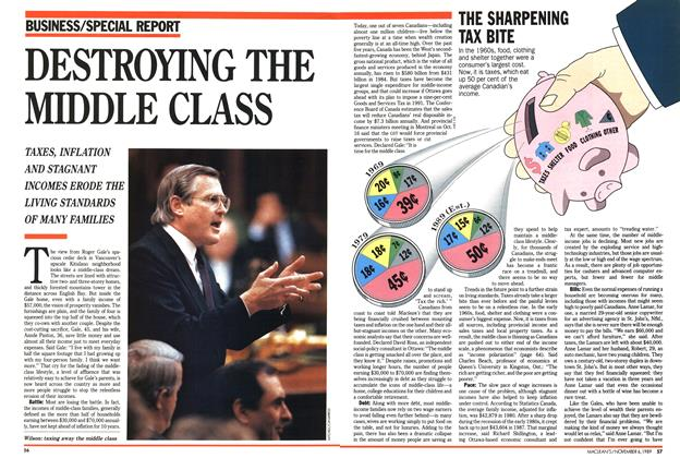 Article Preview: DESTROYING THE MIDDLE CLASS, November 1989 | Maclean's