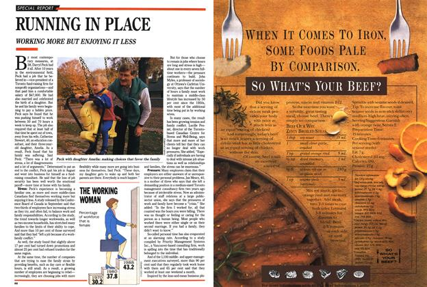Article Preview: RUNNING IN PLACE, November 1989   Maclean's