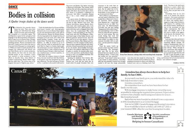 Article Preview: Bodies in collision, November 1989 | Maclean's