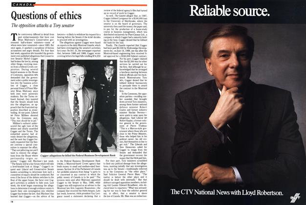 Article Preview: Questions of ethics, November 1989 | Maclean's