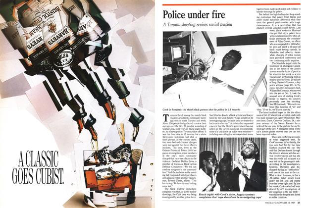 Article Preview: Police under fire, November 1989 | Maclean's