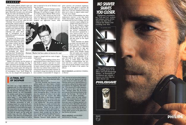 Article Preview: A FINAL ACT OF DESPAIR, November 1989 | Maclean's