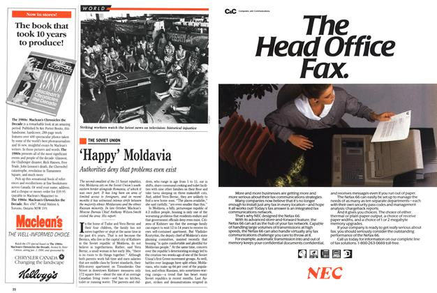 Article Preview: 'Happy' Moldavia, November 1989 | Maclean's