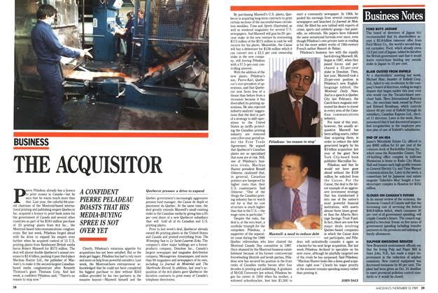 Article Preview: THE ACQUISITOR, November 1989 | Maclean's