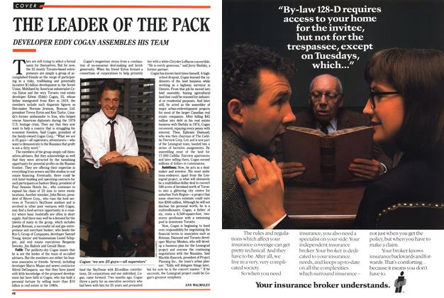 Article Preview: THE LEADER OF THE PACK, November 1989 | Maclean's