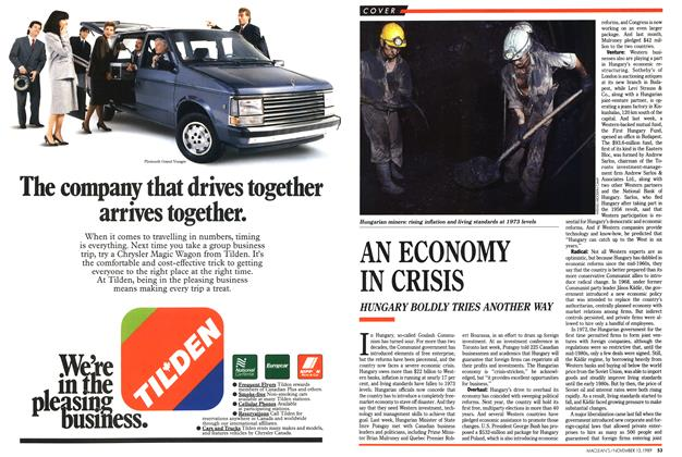 Article Preview: AN ECONOMY IN CRISIS, November 1989 | Maclean's