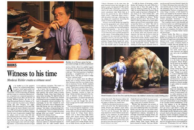 Article Preview: Witness to his time, November 1989 | Maclean's