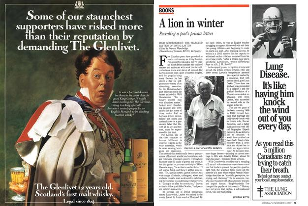 Article Preview: A lion in winter, November 1989 | Maclean's