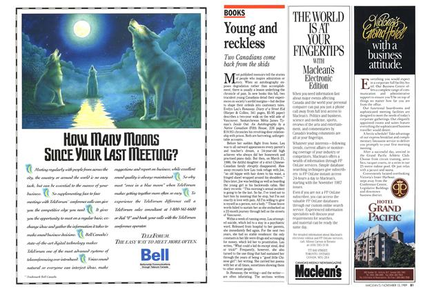 Article Preview: Young and reckless, November 1989 | Maclean's