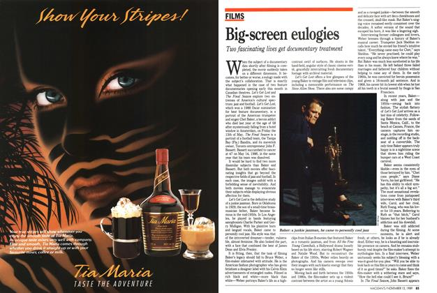 Article Preview: Big-screen eulogies, November 1989 | Maclean's