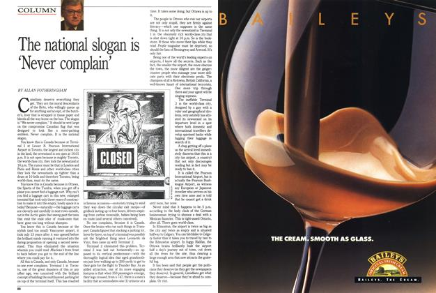 Article Preview: The national slogan is 'Never complain', November 1989 | Maclean's