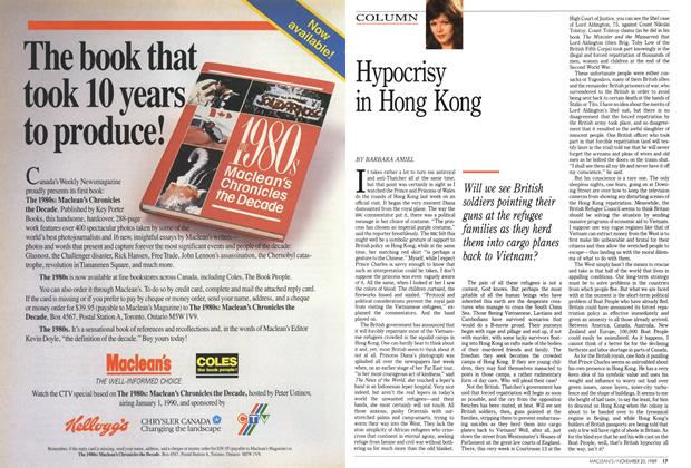 Article Preview: Hypocrisy in Hong Kong, November 1989 | Maclean's