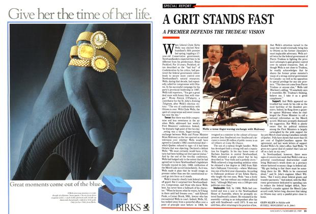 Article Preview: A GRIT STANDS FAST, November 1989 | Maclean's