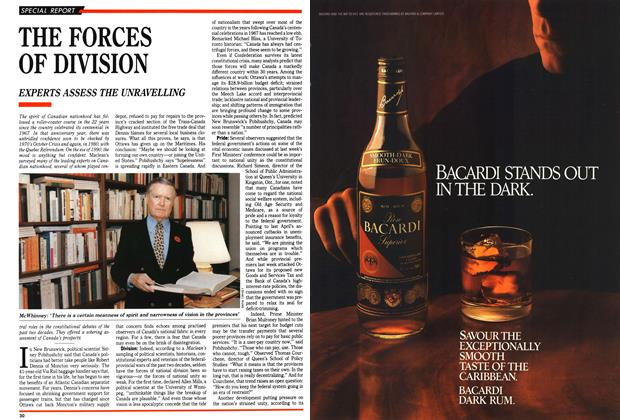 Article Preview: THE FORCES OF DIVISION, November 1989 | Maclean's
