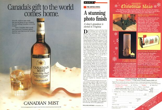 Article Preview: A stunning photo finish, November 1989 | Maclean's