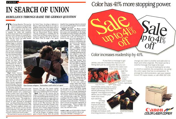 Article Preview: IN SEARCH OF UNION, November 1989 | Maclean's