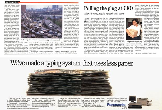 Article Preview: Pulling the plug at CKO, November 1989 | Maclean's
