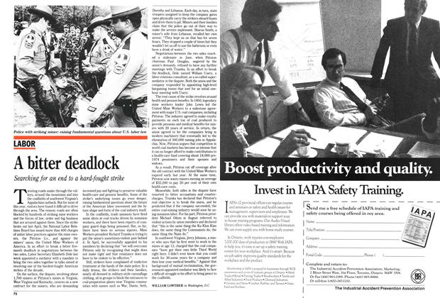 Article Preview: A bitter deadlock, November 1989 | Maclean's