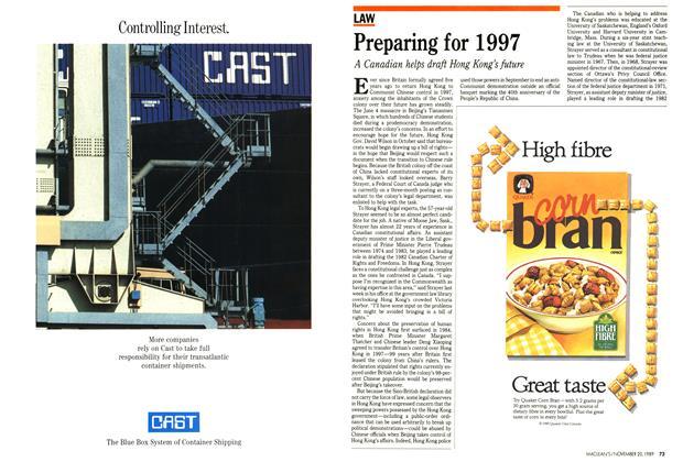 Article Preview: Preparing for 1997, November 1989 | Maclean's