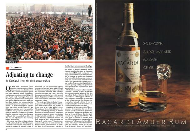 Article Preview: Adjusting to change, November 1989 | Maclean's