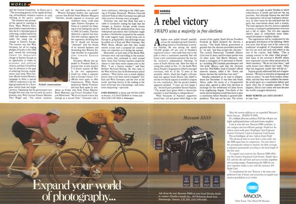Article Preview: A rebel victory, November 1989 | Maclean's