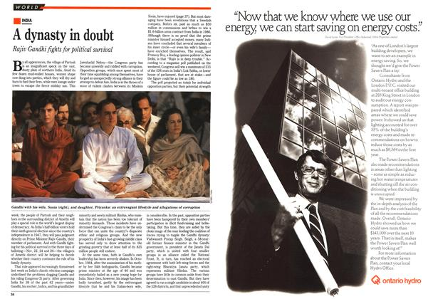 Article Preview: A dynasty in doubt, November 1989 | Maclean's