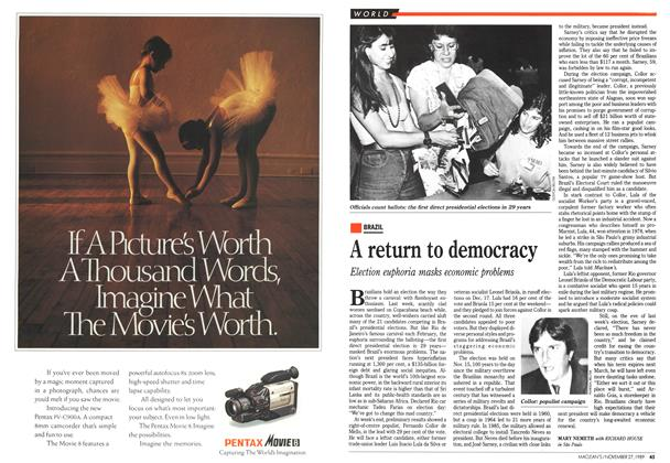 Article Preview: A return to democracy, November 1989 | Maclean's