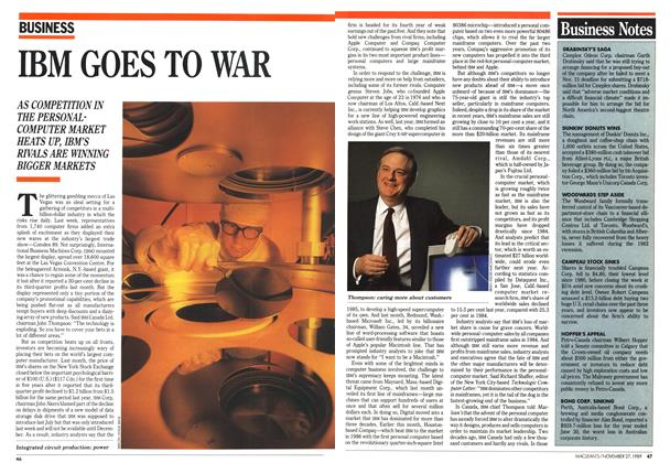 Article Preview: IBM GOES TO WAR, November 1989 | Maclean's