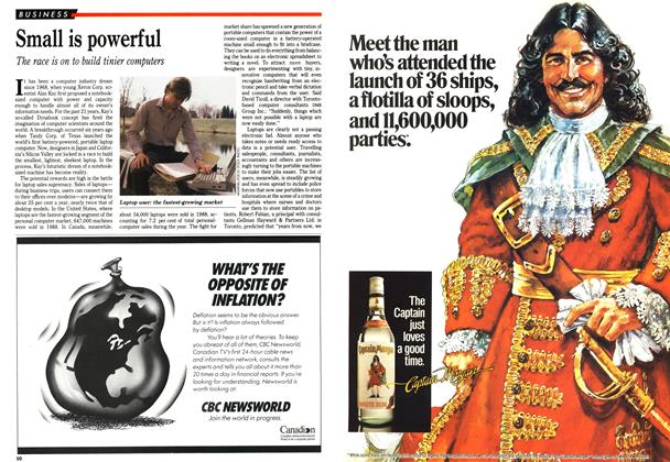 Article Preview: Small is powerful, November 1989 | Maclean's