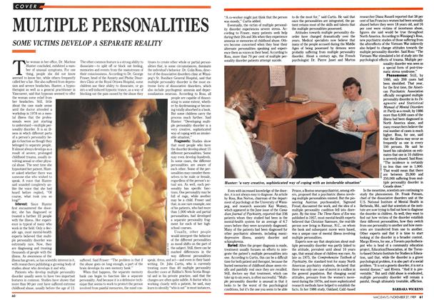 Article Preview: MULTIPLE PERSONALITIES, November 1989 | Maclean's