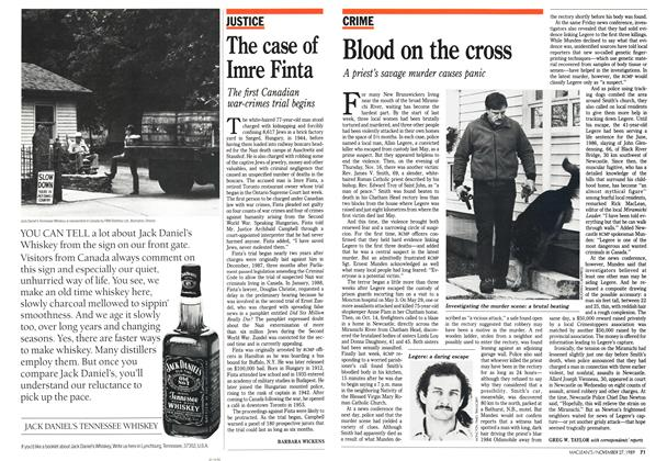 Article Preview: Blood on the cross, November 1989 | Maclean's
