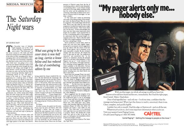 Article Preview: The Saturday Night wars, November 1989 | Maclean's