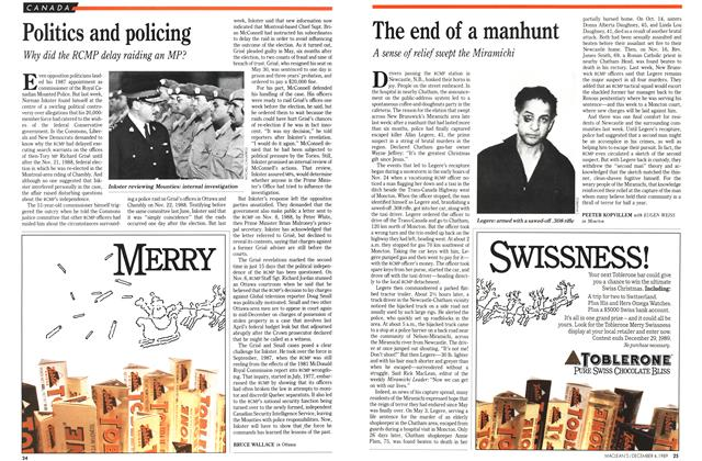 Article Preview: The end of a manhunt, December 1989 | Maclean's