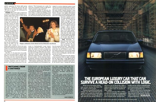 Article Preview: WATCHING FROM A DISTANCE, December 1989 | Maclean's