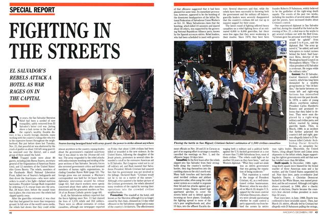 Article Preview: FIGHTING IN THE STREETS, December 1989 | Maclean's