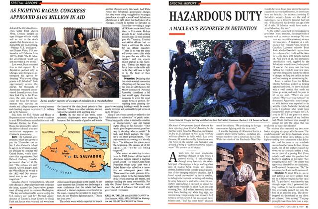 Article Preview: HAZARDOUS DUTY, December 1989 | Maclean's