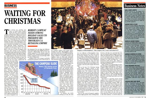 Article Preview: WAITING FOR CHRISTMAS, December 1989 | Maclean's