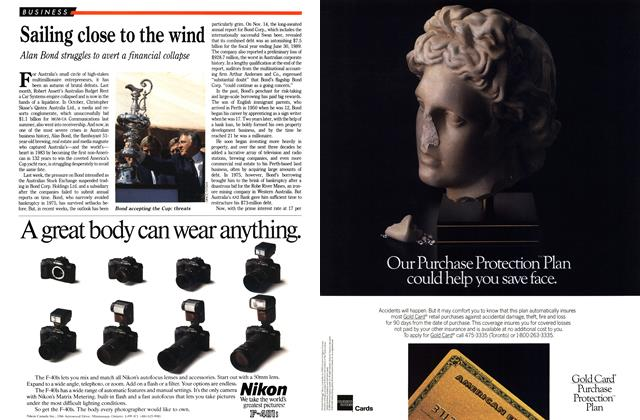 Article Preview: Sailing close to the wind, December 1989 | Maclean's