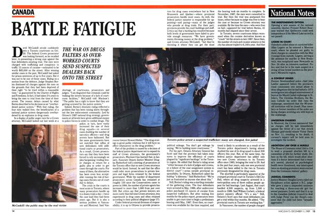 Article Preview: BATTLE FATIGUE, December 1989 | Maclean's