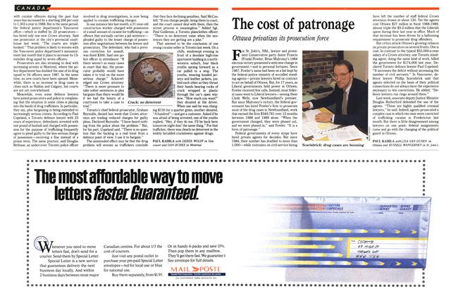 Article Preview: The cost of patronage, December 1989 | Maclean's