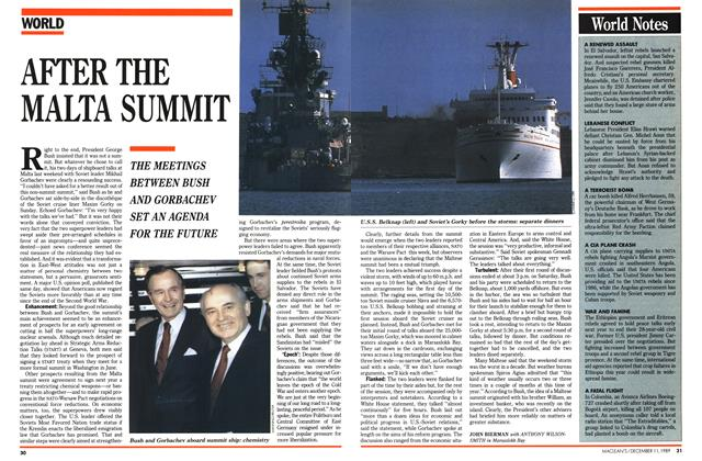 Article Preview: AFTER THE MALTA SUMMIT, December 1989   Maclean's