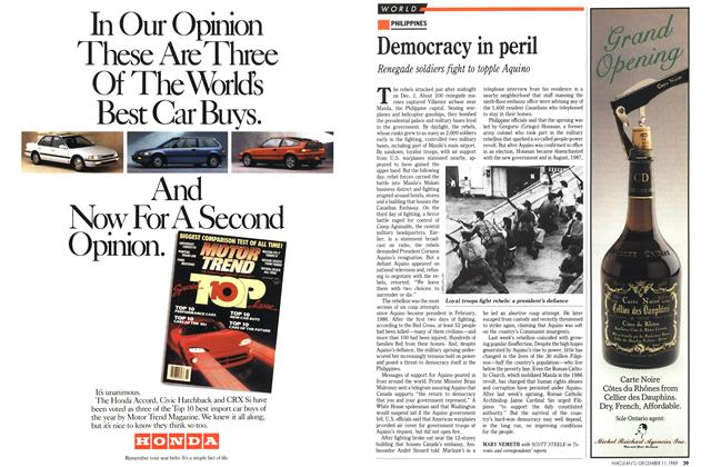 Article Preview: Democracy in peril, December 1989 | Maclean's