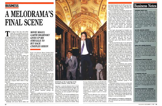 Article Preview: A MELODRAMA'S FINAL SCENE, December 1989 | Maclean's