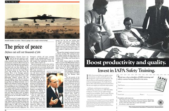 Article Preview: The price of peace, December 1989 | Maclean's