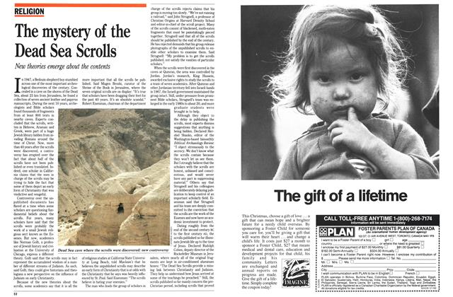 Article Preview: The mystery of the Dead Sea Scrolls, December 1989 | Maclean's