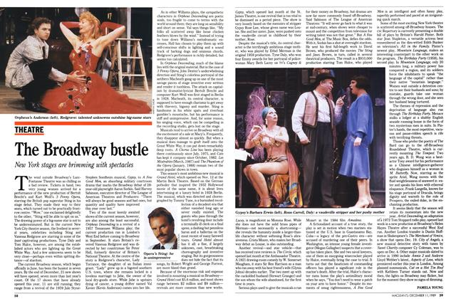 Article Preview: The Broadway bustle, December 1989 | Maclean's