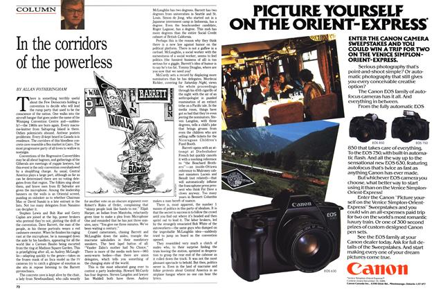 Article Preview: In the corridors of the powerless, December 1989 | Maclean's