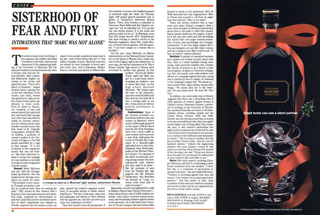 Article Preview: SISTERHOOD OF FEAR AND FURY, December 1989 | Maclean's